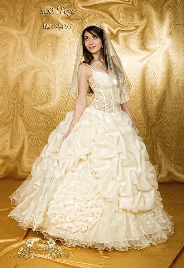 Классические свадебные платья модели Роза предстваляют серию изысканных пышных платьев для невест