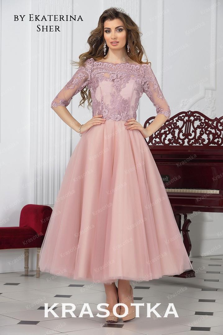 c1fc1457a2588d0 Вечернее платье длины миди Мальдина. Салон «Красотка»
