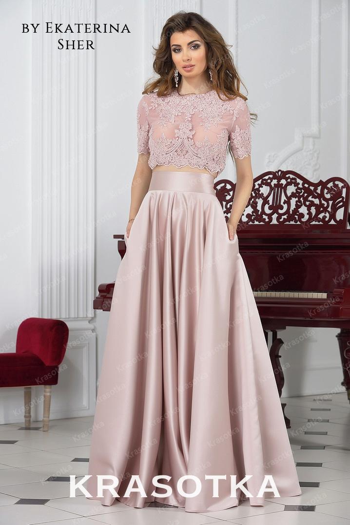 1b068887026 Кроп- топ и юбка с завышенной талией Ливия. Салон «Красотка»